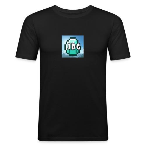 Oranje T-shirt met logo JoramDijkGames - slim fit T-shirt