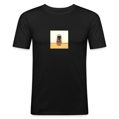 Lustiges Scifi Robot T-Shirt retro Geschenkidee - Männer Slim Fit T-Shirt