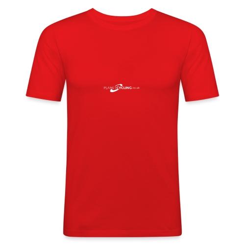 Planet Cycling Web Logo - Men's Slim Fit T-Shirt
