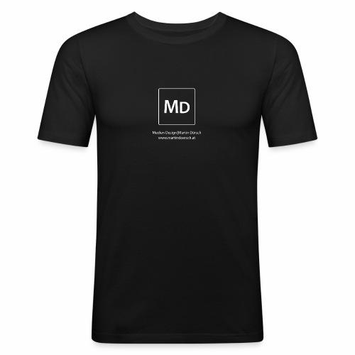 MD Logo - weiß - Männer Slim Fit T-Shirt
