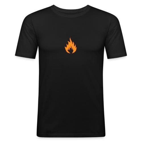 Flame BLACK - T-shirt près du corps Homme