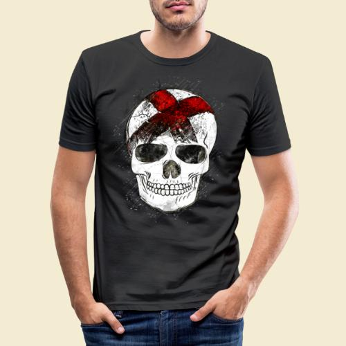 Radball | CycleBall Skull - Männer Slim Fit T-Shirt
