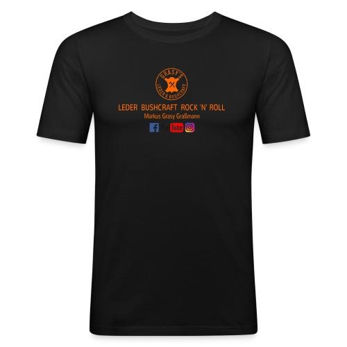 GLW T Shirt R Braun png P - Männer Slim Fit T-Shirt