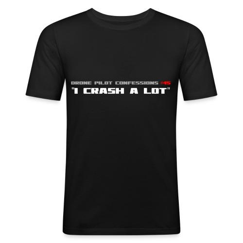 I CRASH A LOT - Men's Slim Fit T-Shirt