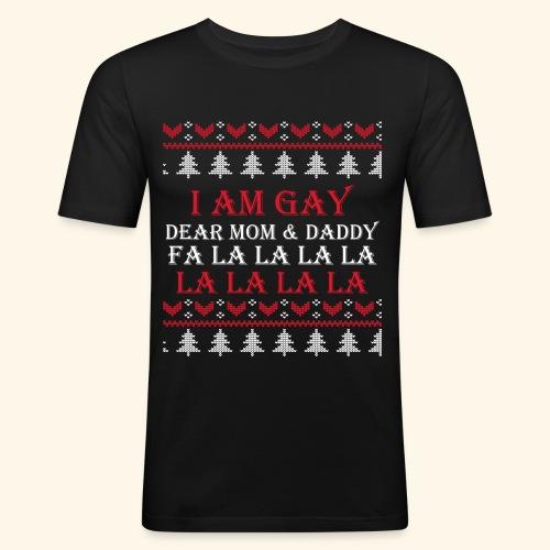 Gay Christmas sweater - Obcisła koszulka męska