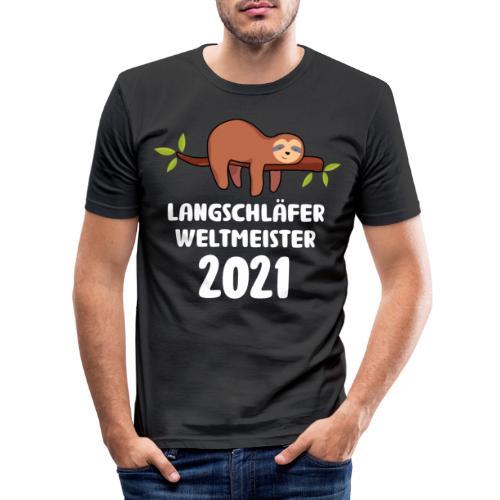 Faultier Spruch Schlafen Schlafshirt Geschenk - Männer Slim Fit T-Shirt