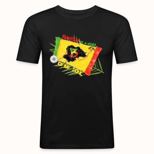 raettle is a riddim 2 kopie - Männer Slim Fit T-Shirt