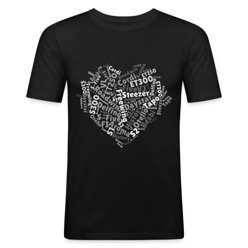 snm-daelim-models-heart-g - Männer Slim Fit T-Shirt