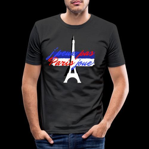 j'peux pas Paris joue foot france - T-shirt près du corps Homme