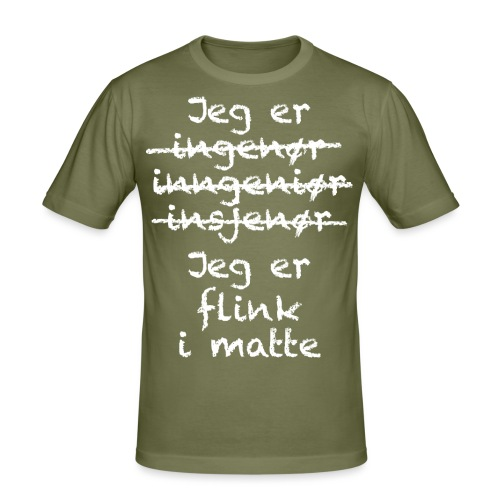 Flink i matte - Slim Fit T-skjorte for menn