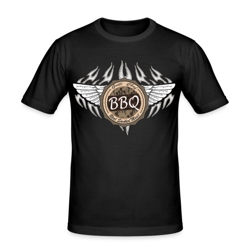 Grillmeister BBQ Chef - Männer Slim Fit T-Shirt