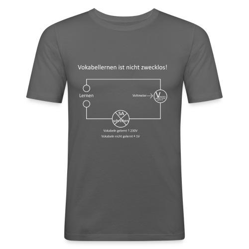 Vokabellernen ist nicht zwecklos - Men's Slim Fit T-Shirt