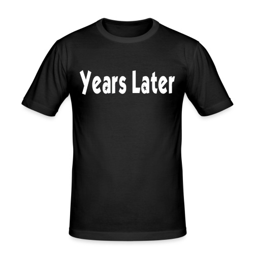 Bandname Years Later weiß - Männer Slim Fit T-Shirt