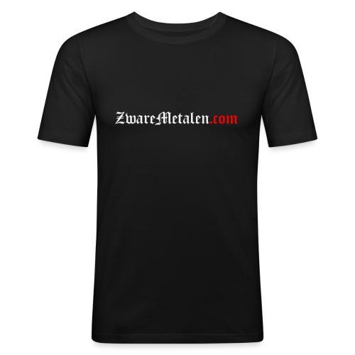 ZwareMetalen.com uitgeschreven - Mannen slim fit T-shirt