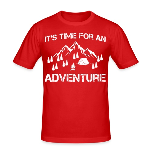 It's time for an adventure - Men's Slim Fit T-Shirt