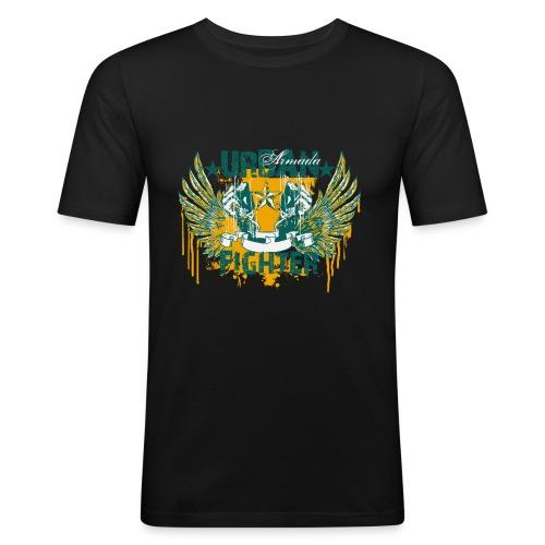 skuls urban fighter - Männer Slim Fit T-Shirt