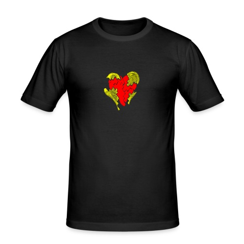 peeled heart (I saw) - Men's Slim Fit T-Shirt