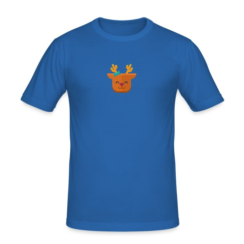 When Deers Smile by EmilyLife® - Men's Slim Fit T-Shirt