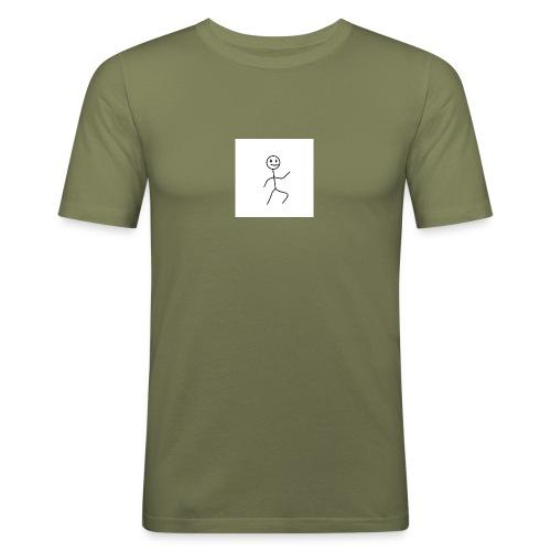 stick man t-shirt dance 1,0 - Herre Slim Fit T-Shirt