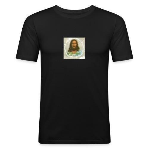 ROSTRO DE JESUS CON CODIGOS SAGRADOS - Camiseta ajustada hombre