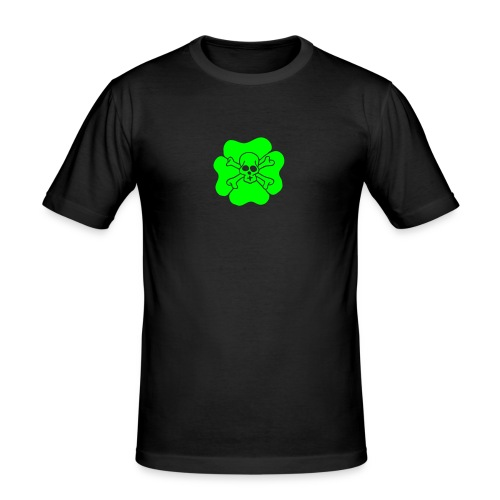Ireland Clover Shamrock Saint patricks day Skulls - Männer Slim Fit T-Shirt
