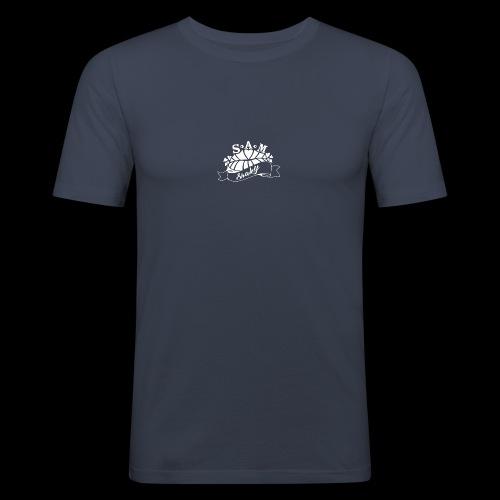 SamShaky - Miesten tyköistuva t-paita