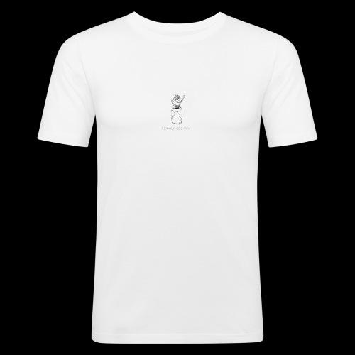 l'amour est mort - T-shirt près du corps Homme