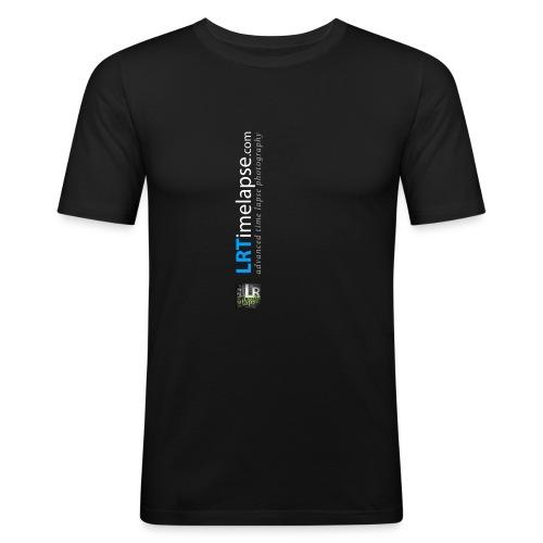 LRTImelapse Shirt Logo Vorne Hoch breiter3 png - Männer Slim Fit T-Shirt