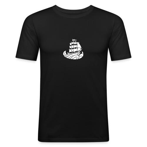 Segelschiff Dreimaster Tattoo Oldschool Sailboot - Männer Slim Fit T-Shirt