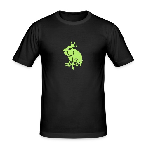 Crown Jewels Frogs Princess Queen Kisses Love King - Männer Slim Fit T-Shirt