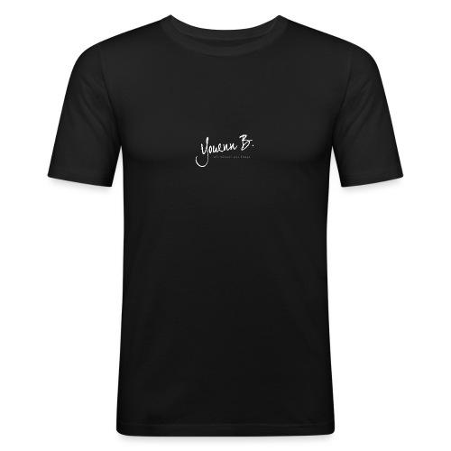 Logo YouennB White - T-shirt près du corps Homme