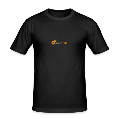 Biker's Hub Small Logo - Men's Slim Fit T-Shirt