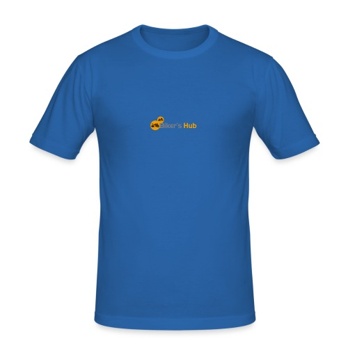 Biker's Hub Small Logo - Men's Slim Fit T-Shirt