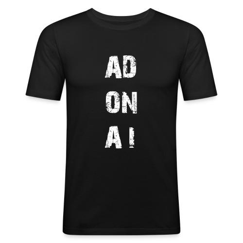 AD ON AI - Männer Slim Fit T-Shirt