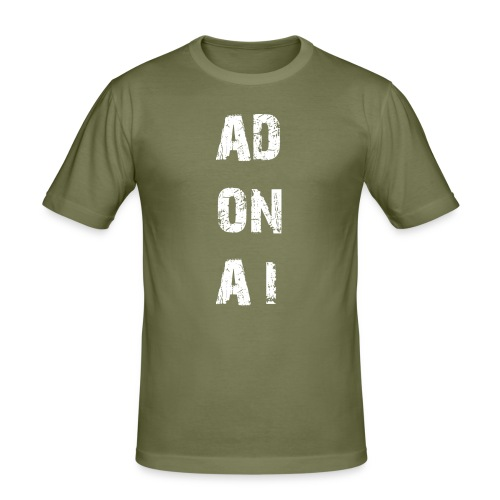AD ON AI - Männer Slim Fit T-Shirt