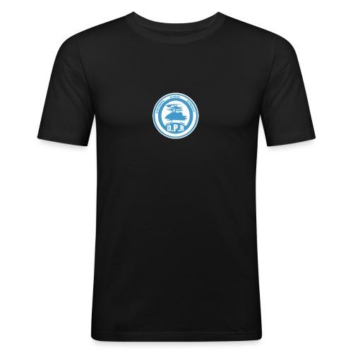 Logo de Policía de Realiacity - Camiseta ajustada hombre
