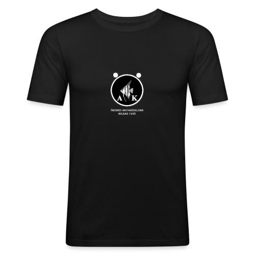 oeakloggamedtextvitaprickar - Slim Fit T-shirt herr