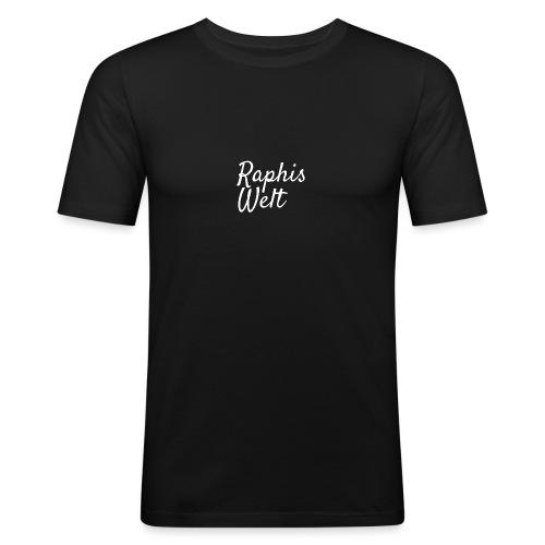White Raphis Welt Branding - Männer Slim Fit T-Shirt