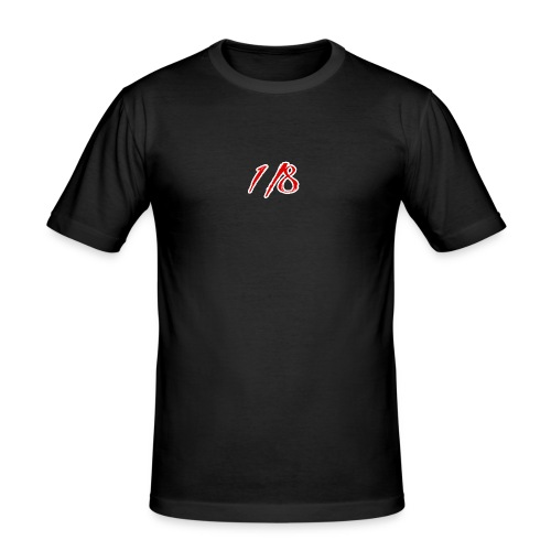 Red And White 1/8 logo Tee - Men's Slim Fit T-Shirt