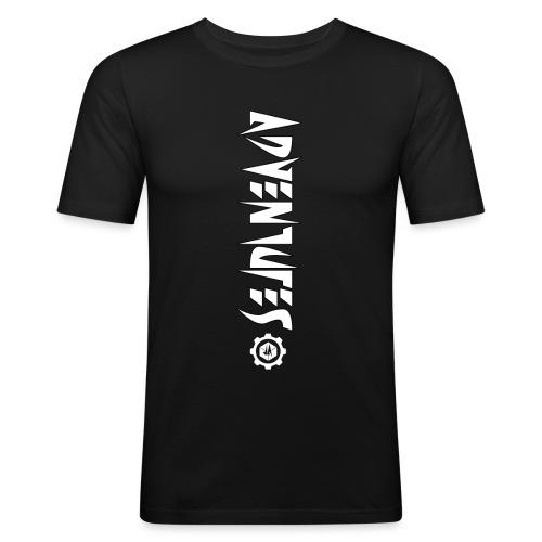 Jebus Adventures Vertical Stripe - Men's Slim Fit T-Shirt