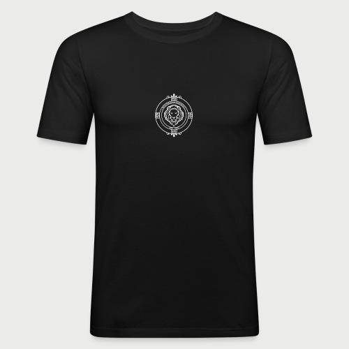 KFTG Logo weiss - Männer Slim Fit T-Shirt