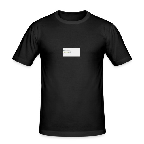 code - T-shirt près du corps Homme