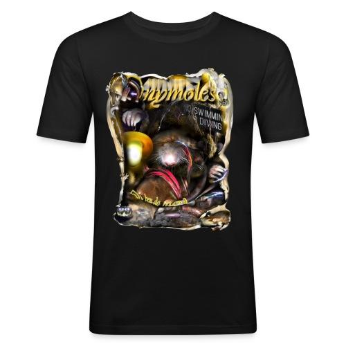 anymoles - Mannen slim fit T-shirt