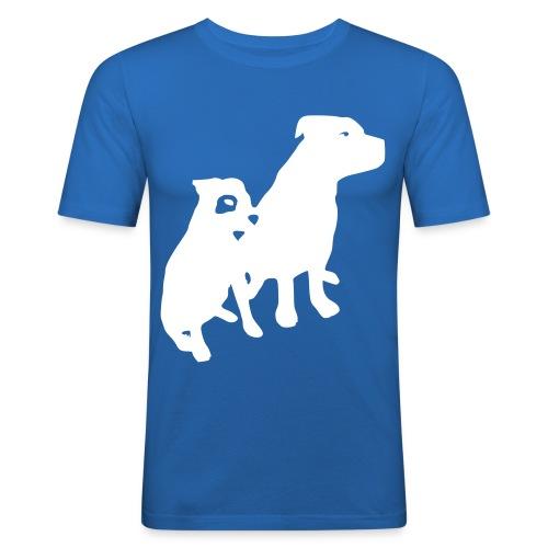 Doggy / zwei brave Hunde zum verschenken - Männer Slim Fit T-Shirt