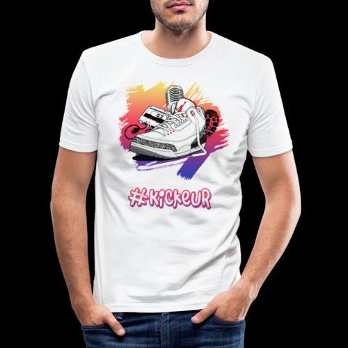 #Kickeur Blanc - T-shirt près du corps Homme