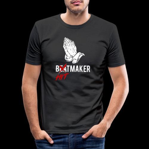 HitMaker Blanc - T-shirt près du corps Homme