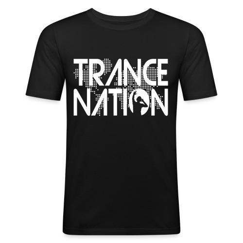 Trance Nation (White) - Slim Fit T-shirt herr
