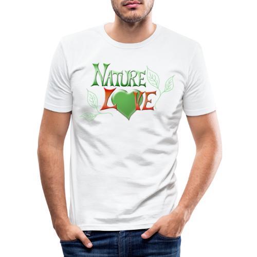 Nature Love - Männer Slim Fit T-Shirt