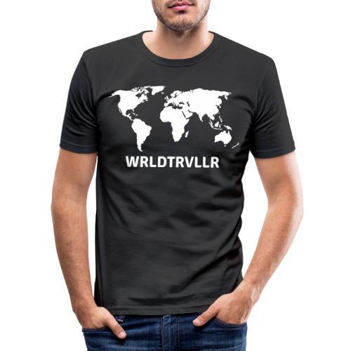 Worldtraveller - Männer Slim Fit T-Shirt