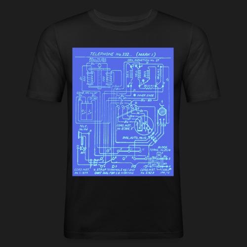 Telephone Circuit - Men's Slim Fit T-Shirt